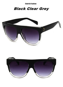 New Flat Top Style Brand Design Vintage Sunglasses