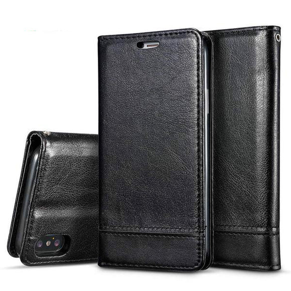 Magnetic Leather Wallet Book Flip Cases For iPhone