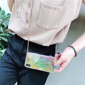 Crossbody Chain Laser Case Bag For iPhone