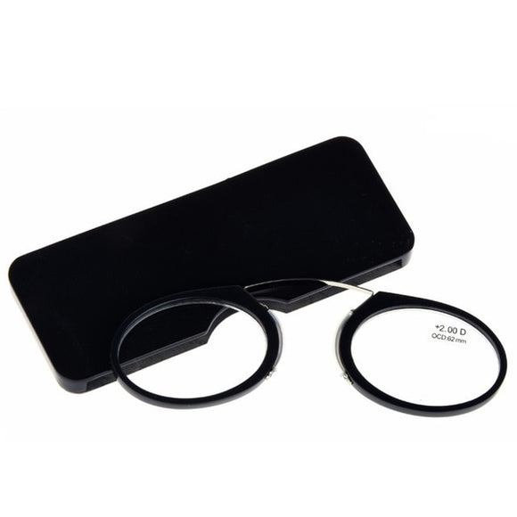 Nose Clip Round Optical Frame Diopter Prescription Magnetic Reading Glasses