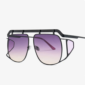 Unisex Big Frame Pilot Square Sunglasses