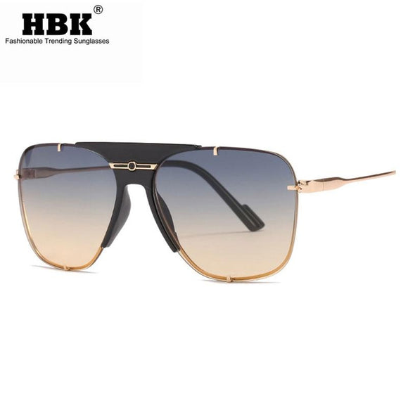Retro Square Sunglasses Men Metal Goggles Driving Glasses