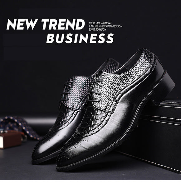 Fashion Leather Pointed Oxford Shoes For Men