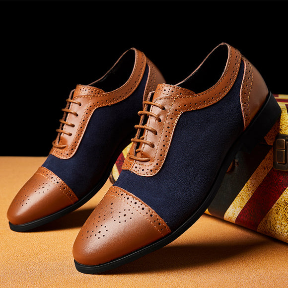 Quality Lace Up Leather Brogue Oxford Shoes