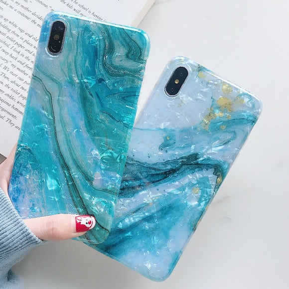 Glitter Marble Case For iPhone XR XS MAX X 6 6S 7 8 Plus