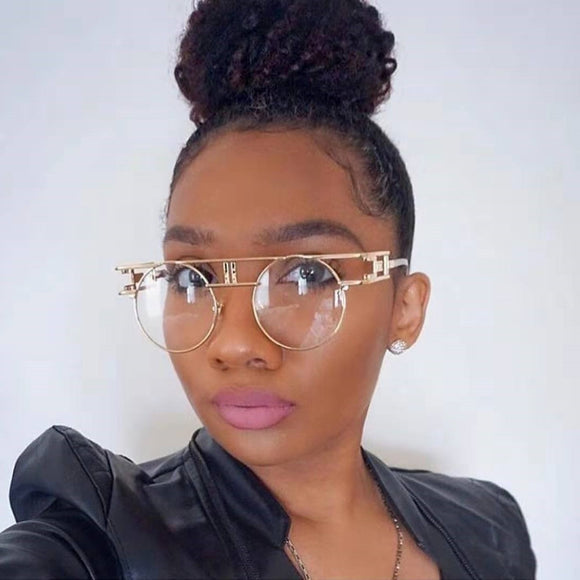 Steampunk Retro Round Metal Frames Glasses