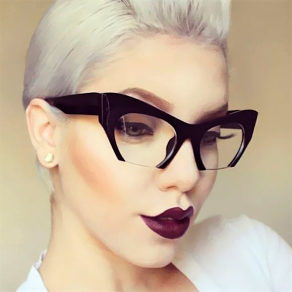 Ladies' Small Half Frame Cat Eye Glasses