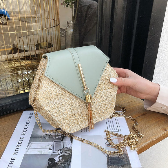 Mulit Style Straw Leather Cute Handbag