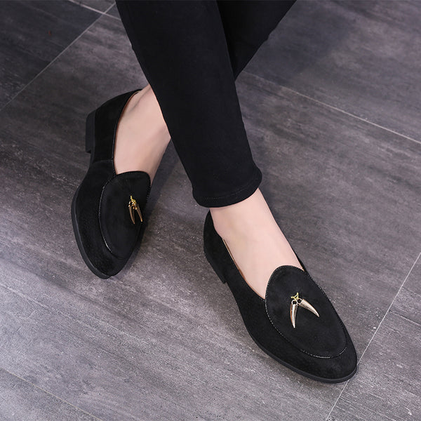 Fashion Tassel Design Suede Leather Men S Casual Loafers Vipupon