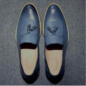 Men's Vintage Tassel Leather Loafers