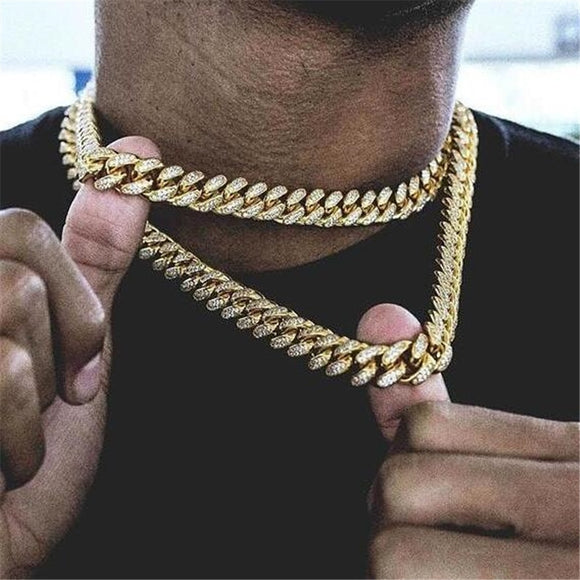 Hip Hop Miami Curb Cuban Chain Necklace
