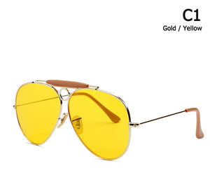 SHOOTER Style Vintage Aviation Metal Circle Sunglasses [Buy 2 get Extra 5% OFF, Buy 10% get 10% OFF]