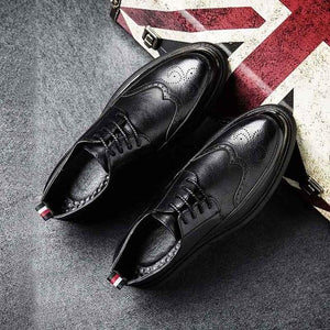 New Fashion Business Classic Lace Up Brogue Shoes
