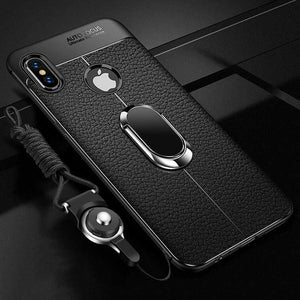 Phone Accessories - Luxury Leather Magnetic Ring Case For iPhone [Buy 2 Get Extra 10% OFF, 3 Get 15% OFF]