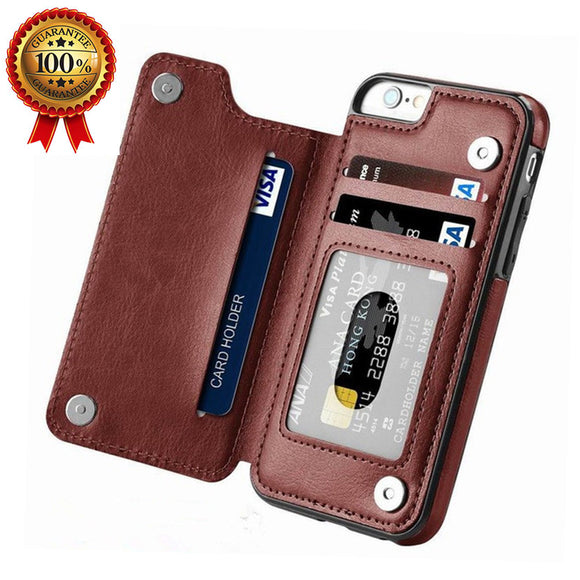 Luxury Retro Leather Card Slot Holder Cover Case For iPhone11/Pro/Max X XR XS MAX 8 7 6S 6sPlus