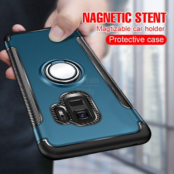 size 40 33407 ba824 Luxury Armor Magic Ring Case For Samsung Galaxy S7 Edge Note 9 S9 S8 S9 S8  Plus