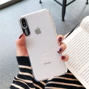 Phone Accessories - Luxury Metal Lens Letters Clear Phone Case For iPhone (Extra Discount:Buy 2 Get 10% OFF, 3 Get 15% OFF )