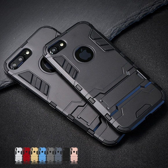 Armor Hybrid TPU+Hard PC ShockProof Back Cover for iPhone