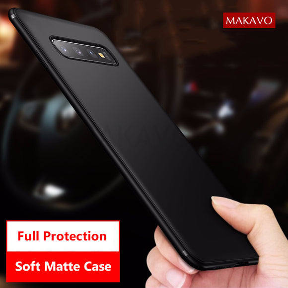 Ultra Thin Soft Matte Silicon Cover For Samsung Galaxy S10 S10 Plus S10e