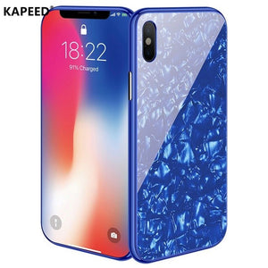 Colorful Magnetic Marbling Case For iPhone X XR XS Max
