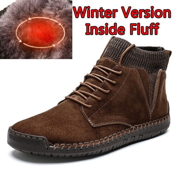 Men's Retro Trendy Autumn Winter Warm Large Size Snow Boots