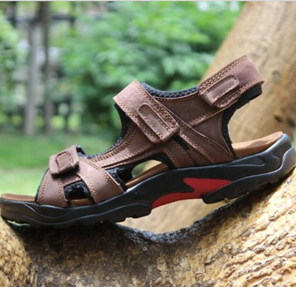 Summer Beach Genuine Leather Comfortable Casual Sandals