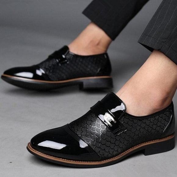 New Fashion Men's Leather Flat Business Oxfords Shoes