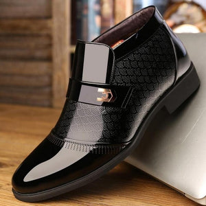 Luxury Metal Buckle Warm Winter Boots For Men