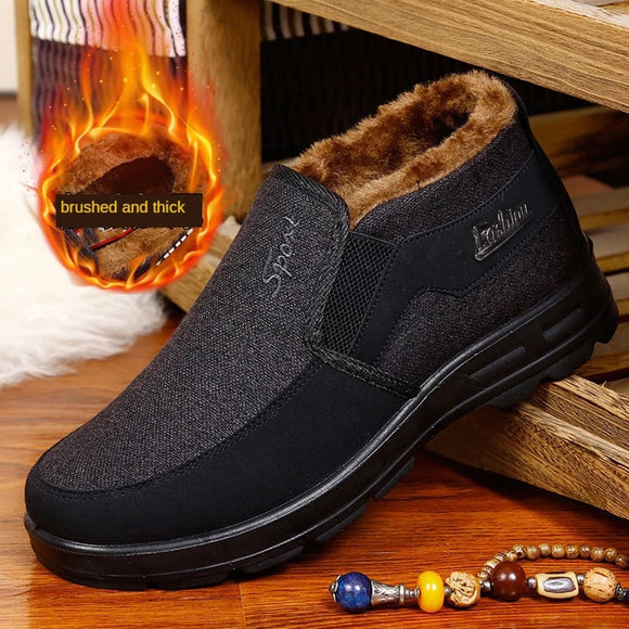 Larger Size Men's Winter Work Warm Cotton Shoes(BUY 2 GET 5% OFF, 3 GET 10% OFF NOW)