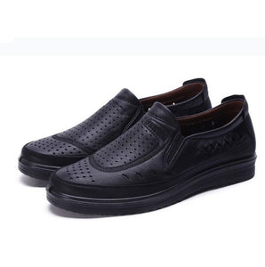 Spring Summer Brogue Business Soft Slip on Shoes