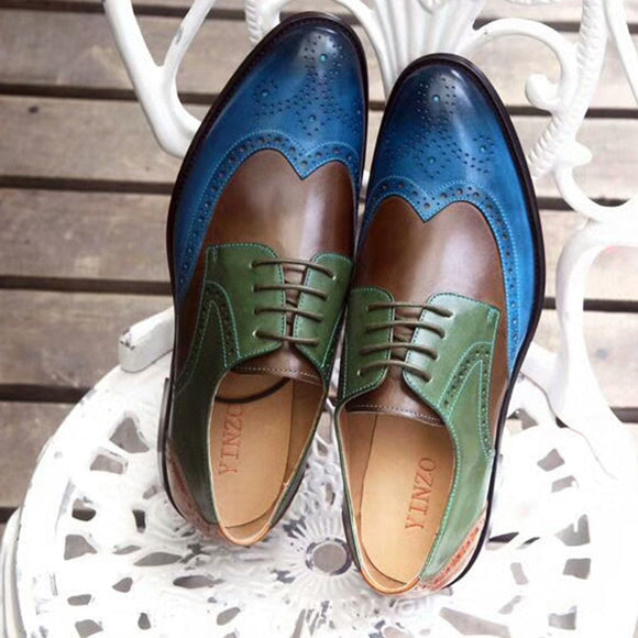 Mens' Formal Leather Dressing Wedding Brogues Office Oxford Shoes