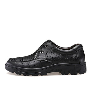 Fashion Handmade Genuine Leather Breathable Holes Shoes