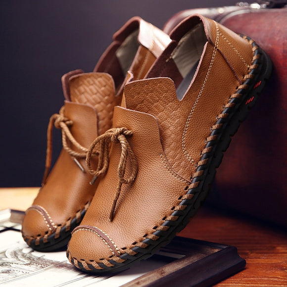 Genuine Leather Flat Anti-Slip Loafers Moccasins Shoes