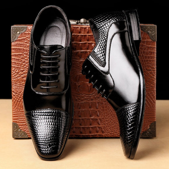 Top Quality Genuine Leather Plus Size Business Formal Shoes