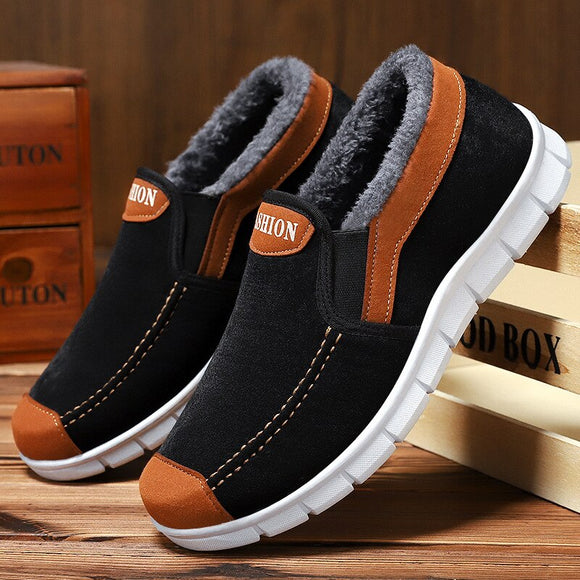 Vipupon Men's Velvet Cotton Winter Warm Shoes