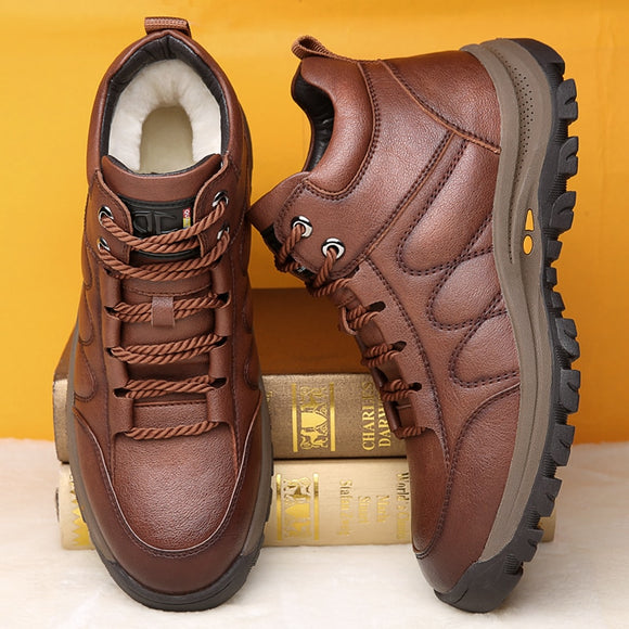 Casual Leather Handmade Sneakers