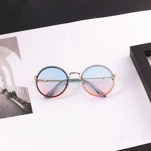 Children Personality Round Lens Frameless Sunglasses