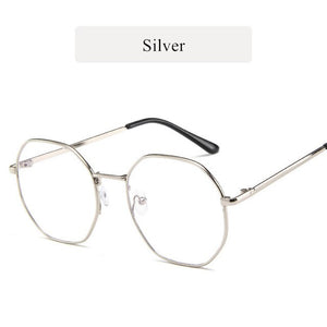 Anti Blue Light Clear Metal Spectacle Frames Computer Eyewear
