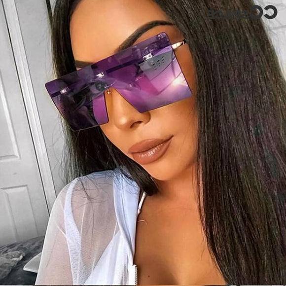 Fashion Oversized UV400 Sunglasses For Women