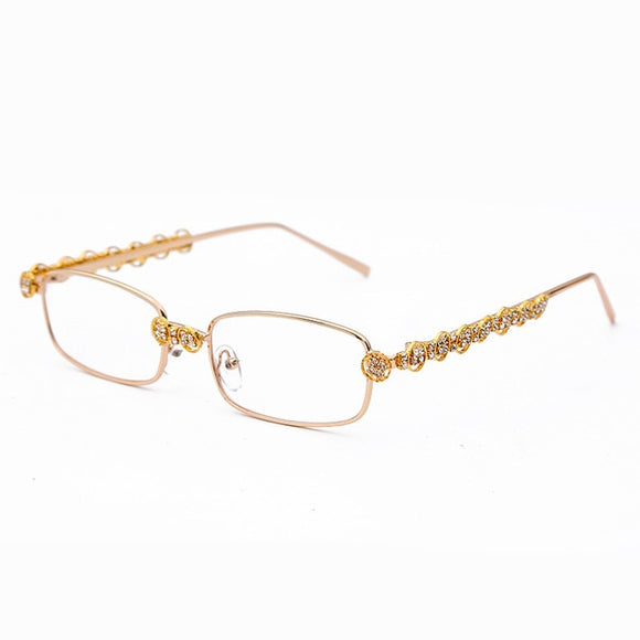 Rectangle Rhinestone Fashion Crystal Vintage Shades