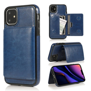 Retro PU Leather Card Slots Case For iPhone 11 11 Pro 11 Pro Max 7 8 6 6s Plus X Xs Max XR