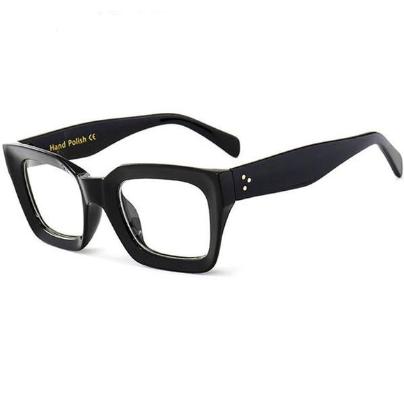 Black Frame Square Transparent Glasses