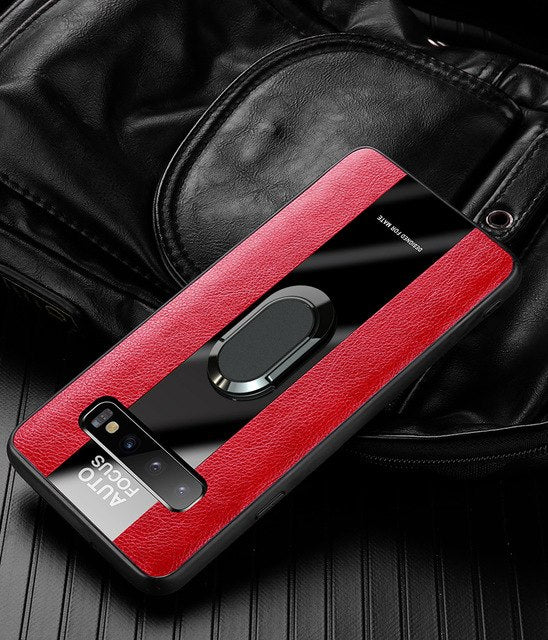 Luxury Porsche Style Magnetic Ring Holder Phone Case For Samsung Galaxy S10 S10e S10 Lite