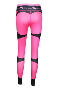 Heartbeat Print Push Up Elasticity Leggings Pants