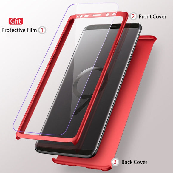 Vipupon Shockproof 360 Degree Matte Phone Case For Samsung(Europe)