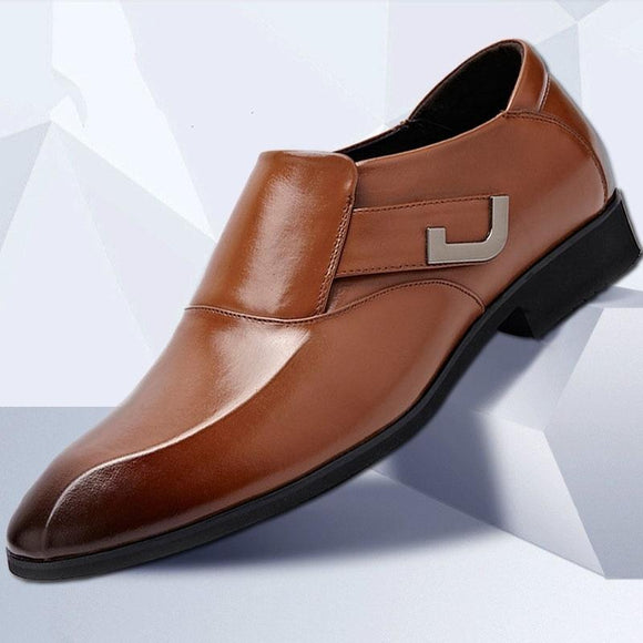 Men Leather Formal Dress Shoes