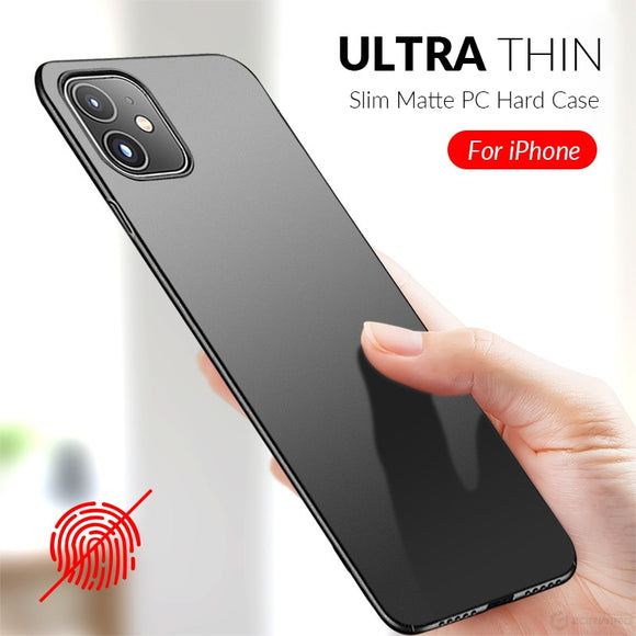 Matte Slim Phone Case For iPhone 11 Pro 12 mini XS Max XR X 7 8 Plus