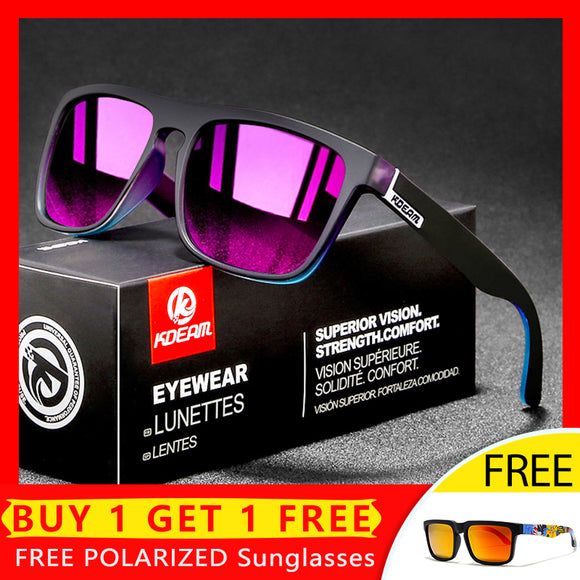 Square Polarized Driving Night-Vision 100% UV400 Sunglasses(Buy One Get One Free)