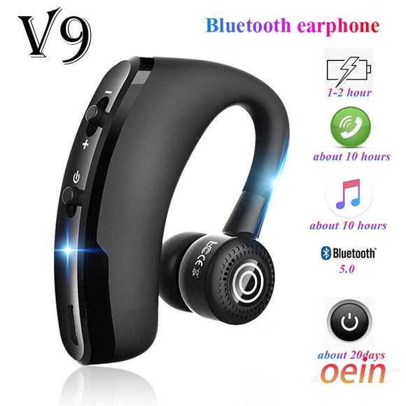 V9 earphones Bluetooth headphones Handsfree wireless