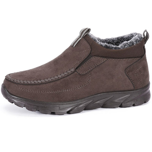 Vipupon Men's Plush Cotton Casual Non-slip Shoes